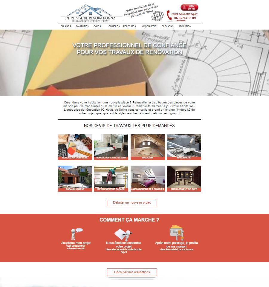 Entreprise de rénovation 92 Hauts de Seine