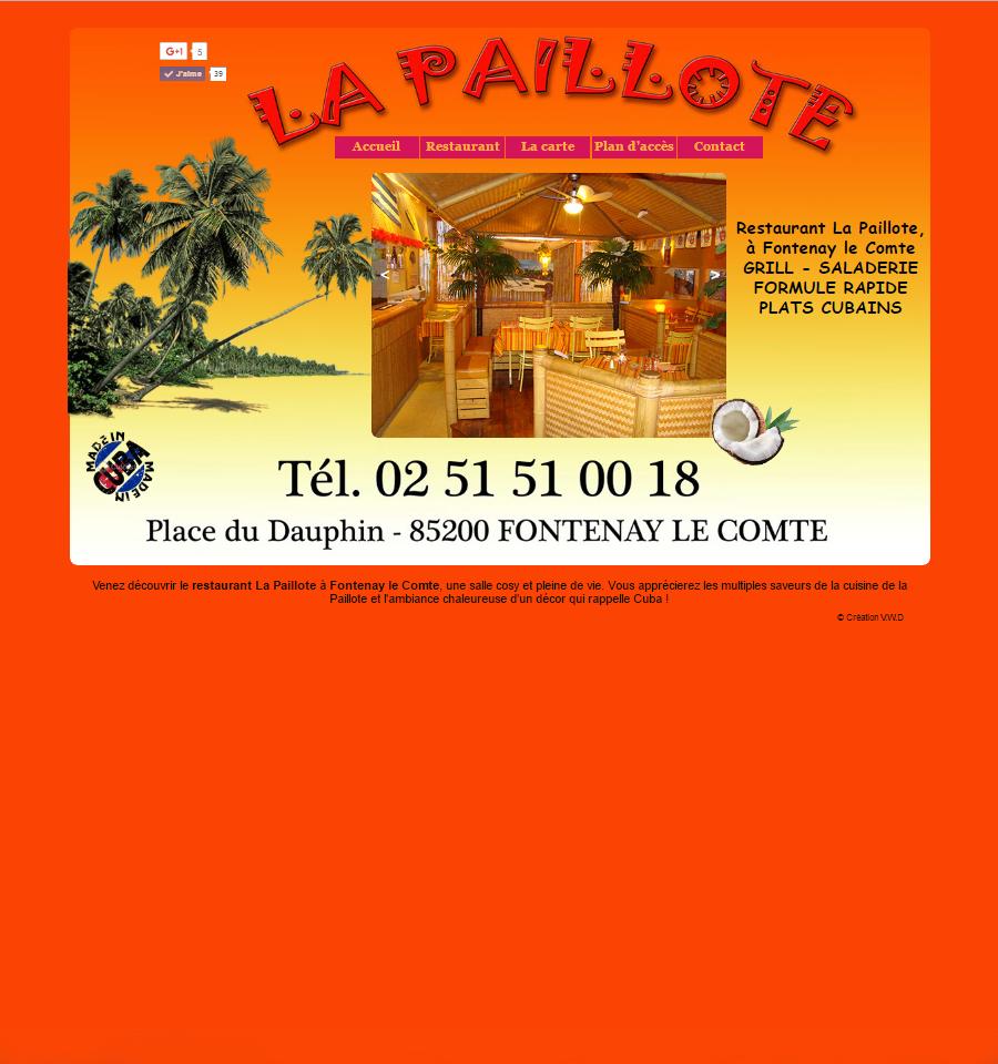 Restaurant la pailotte Fontenay le Comte